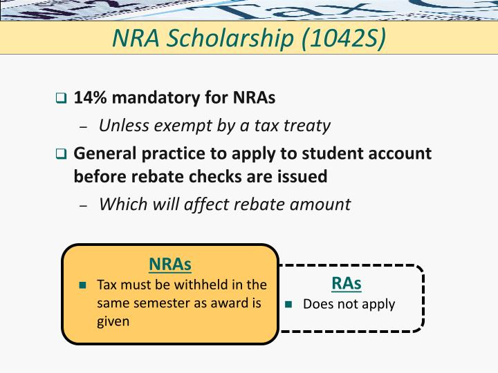 NRA Scholarship (1042S)