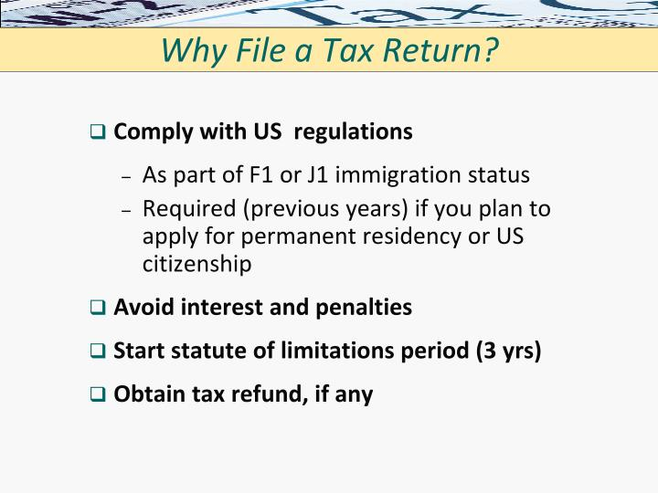 Why File a Tax Return?