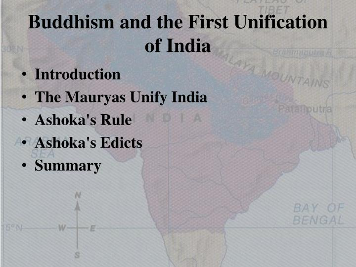 Buddhism and the first unification of india