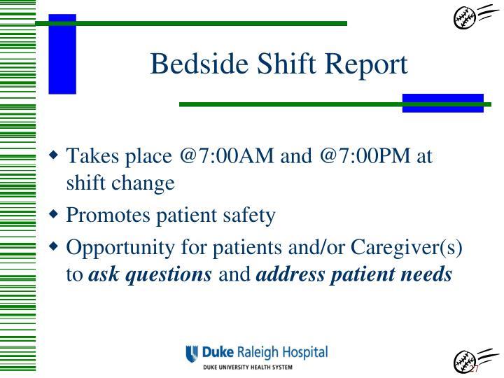 Bedside Shift Report