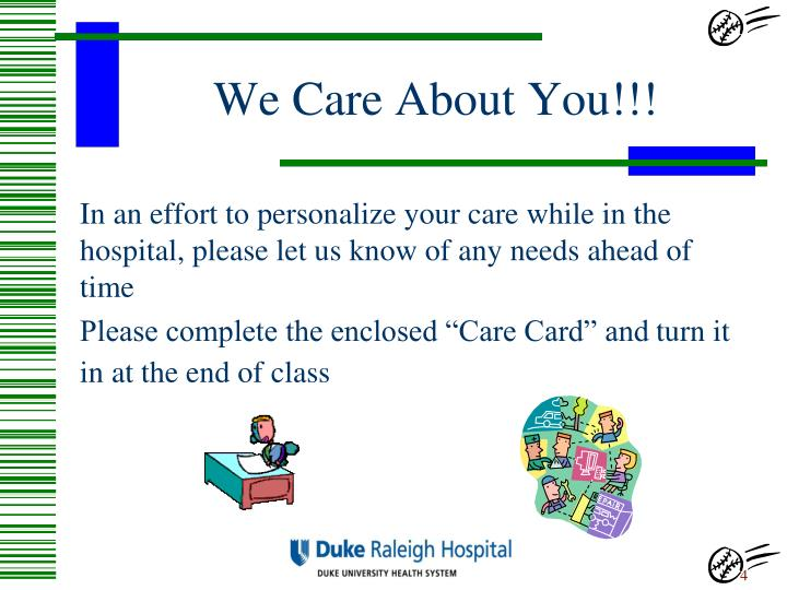 We Care About You!!!