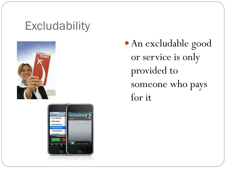 Excludability