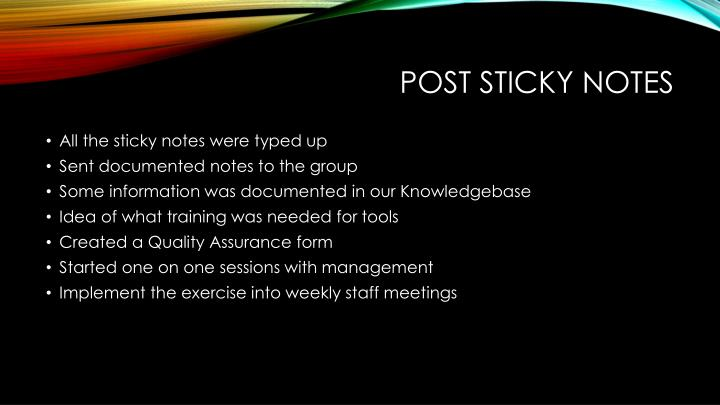 Post Sticky notes