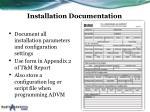 installation documentation
