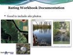 rating workbook documentation1
