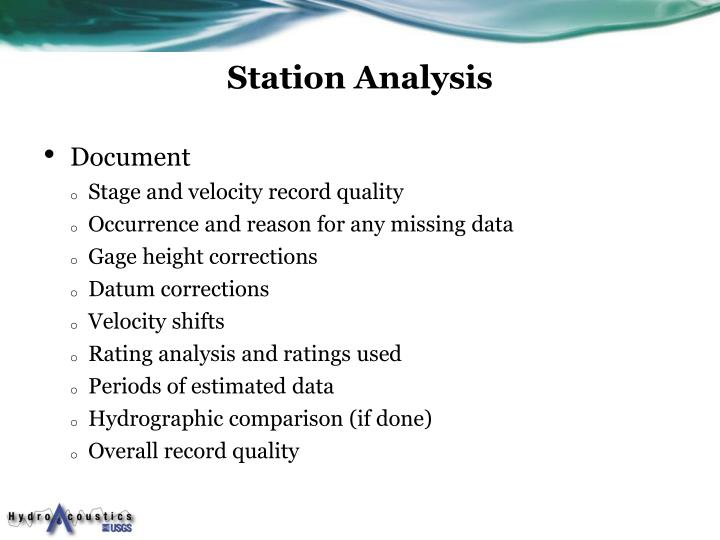 Station Analysis