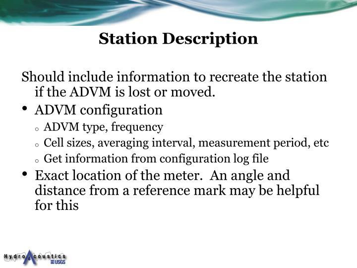 Station Description