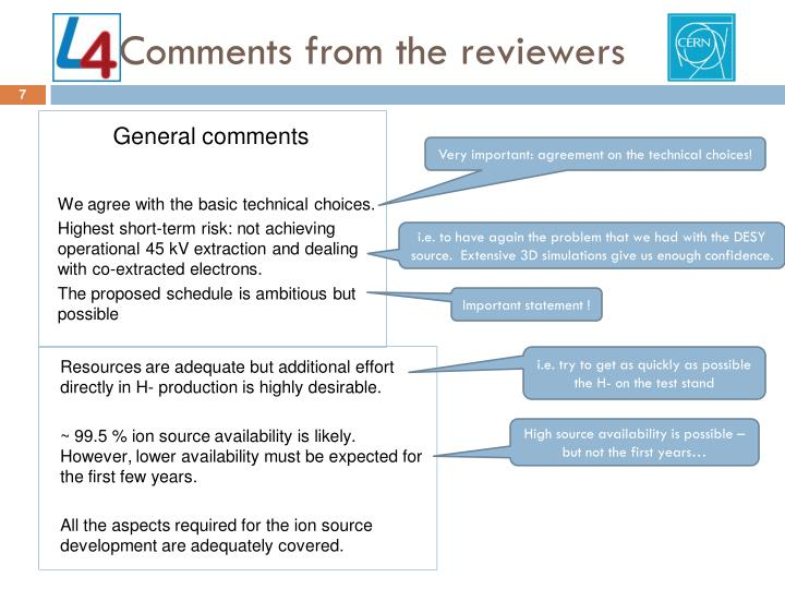 Comments from the reviewers