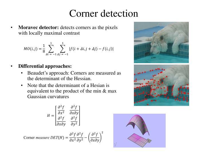 Corner detection