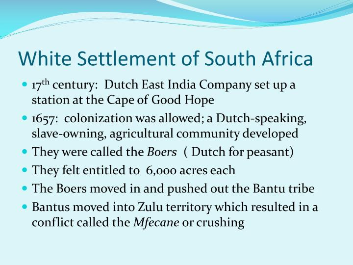White Settlement of South Africa
