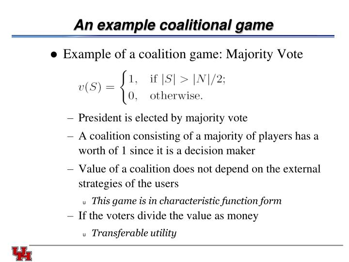An example coalitional game