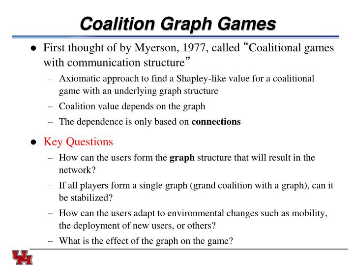 Coalition Graph Games
