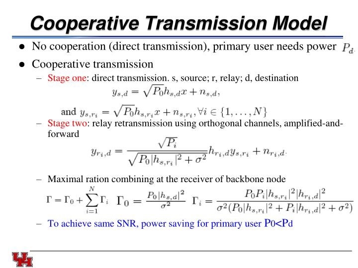 Cooperative Transmission Model