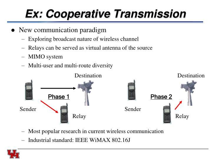 Ex: Cooperative
