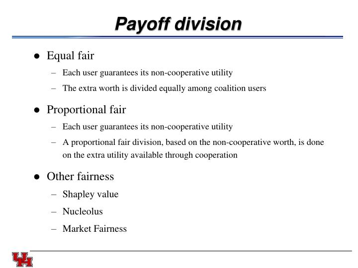 Payoff division
