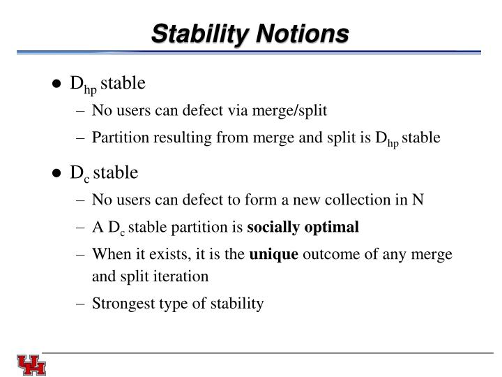 Stability Notions