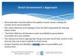 dutch government s approach