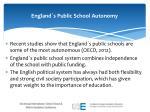 england s public school autonomy