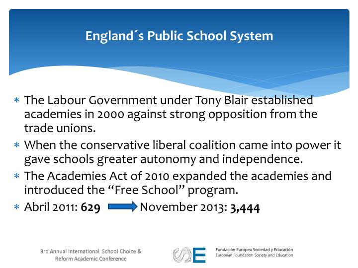 England´s Public School System