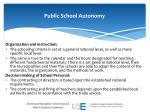 public school autonomy