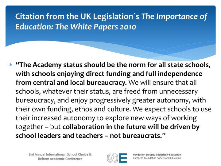 Citation from the UK Legislation´s