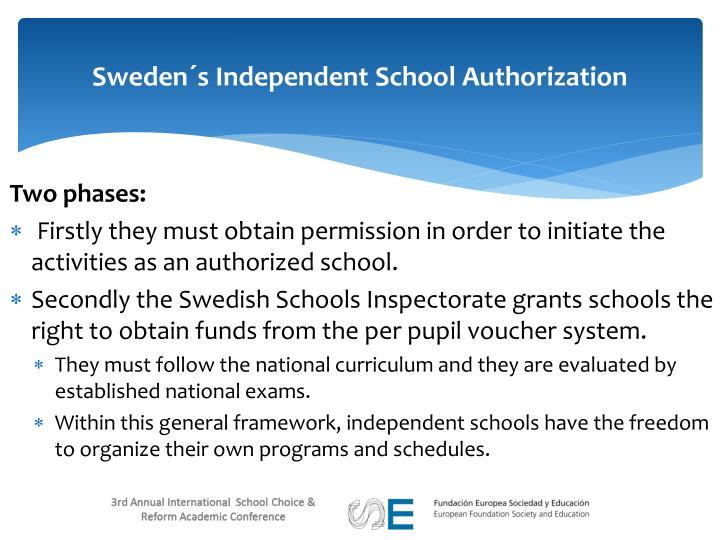 Sweden´s Independent School Authorization