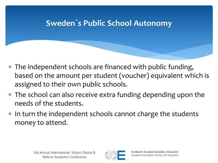 Sweden´s Public School Autonomy
