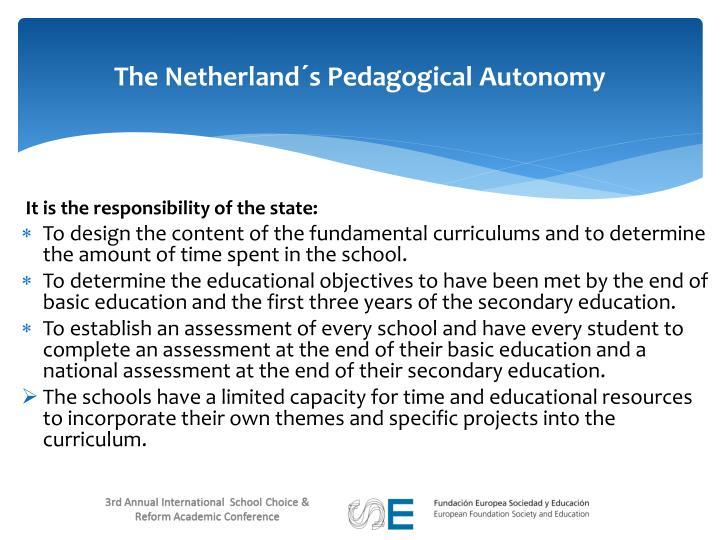 The Netherland´s Pedagogical Autonomy