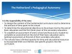 the netherland s pedagogical autonomy