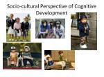 socio cultural perspective of cognitive development