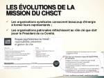 les volutions de la mission du chsct3