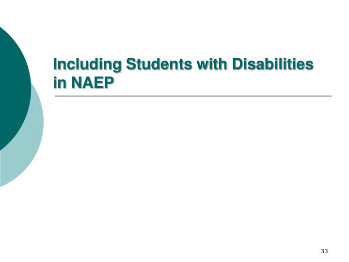 Including Students with Disabilities in NAEP