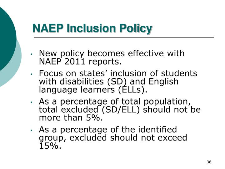 NAEP Inclusion Policy