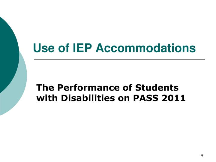 Use of IEP Accommodations