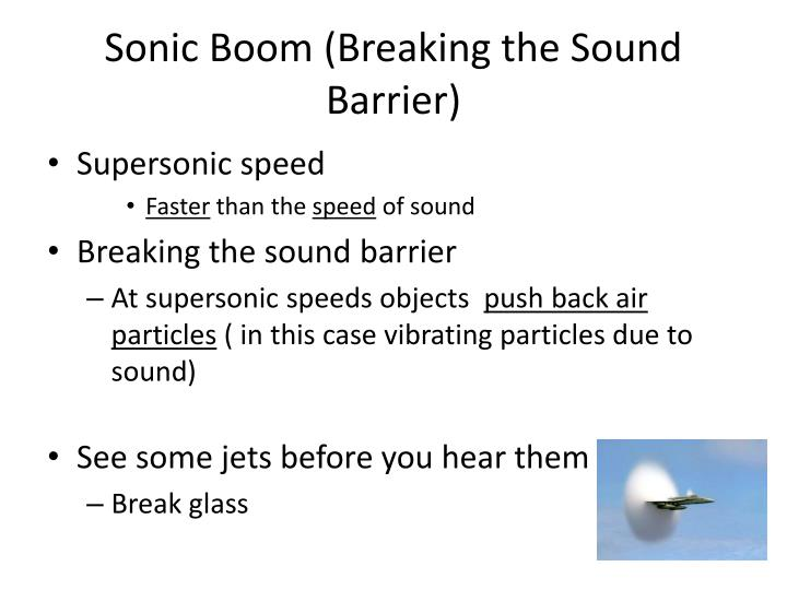Sonic Boom (Breaking the Sound Barrier)