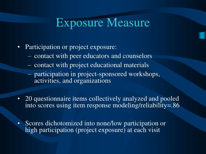 Exposure Measure