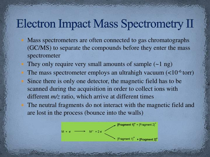 Electron Impact Mass Spectrometry