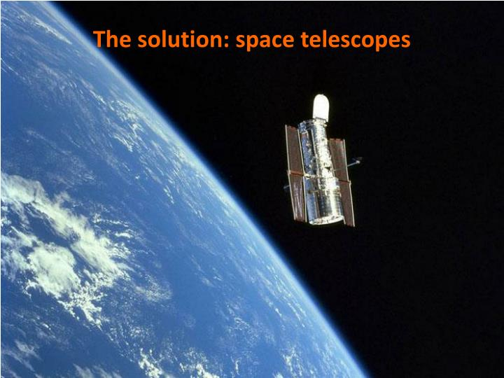 The solution: space telescopes