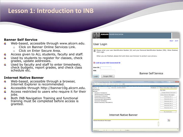 Lesson 1: Introduction to INB