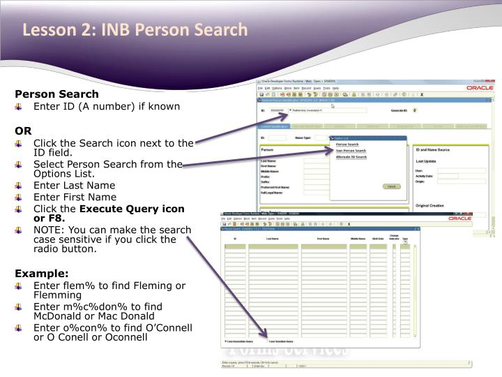 Lesson 2: INB Person Search