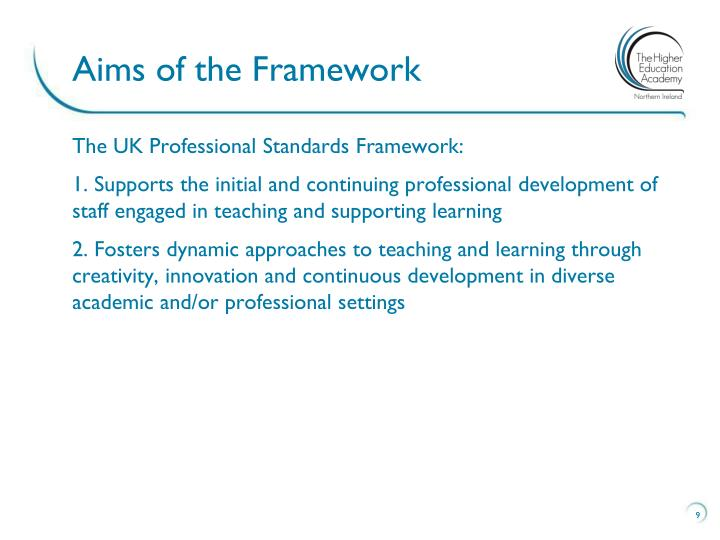 Aims of the Framework