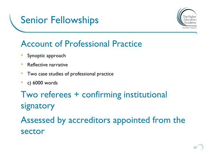 Senior Fellowships