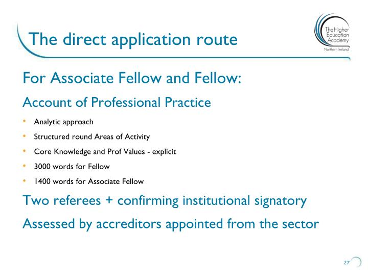 The direct application route