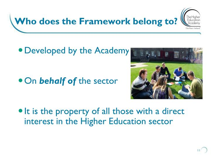 Who does the Framework belong to?