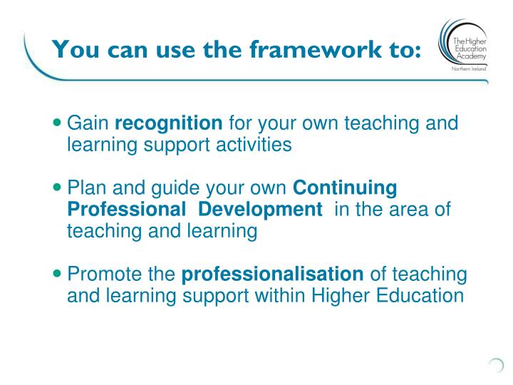 You can use the framework to:
