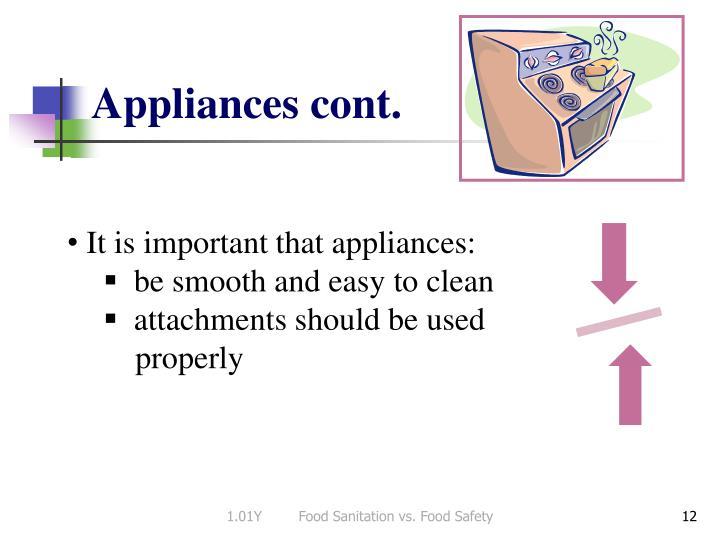 Appliances cont.