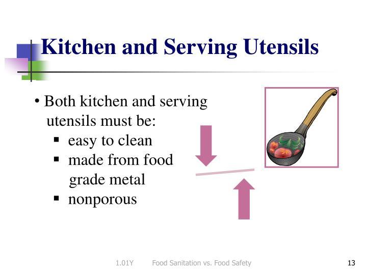 Kitchen and Serving Utensils