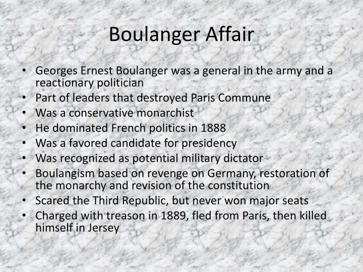 Boulanger Affair