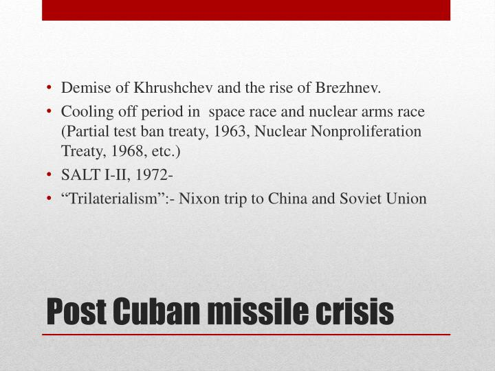 Post cuban missile crisis