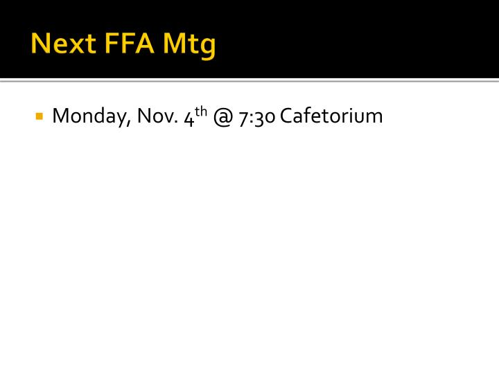Next FFA